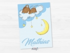 Invitatie Baby Bear in the clouds