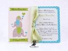 Invitatie de botez Baby Blue Elephant