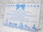 Invitatie de botez Blue Bow