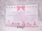 Invitatie de botez Pink Bow