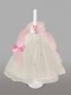 Lumanare pentru botez cu fundita roz si printesa