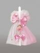 Lumanare pentru botez cu fundite roz si balerina