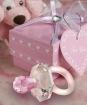 Marturii suzeta roz din cristal