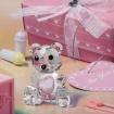 Marturii ursulet roz din cristal