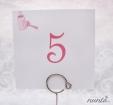 Numar de masa Pink Bow