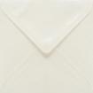Plic patrat mare alb sidefat