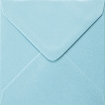 Plic patrat mic bleu sidefat