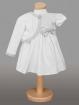 Set rochita si bolero alb cu gri