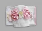 Trusou pentru botez cu fundita roz New Baby